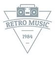 retro music logo simple gray style vector image