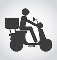 scooter bike vector image
