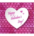 3d paper heart eps 10 Happy Valentines day card vector image