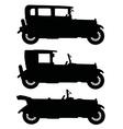 Black vintage cars vector image