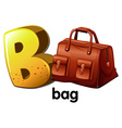 A letter B for bag vector image vector image