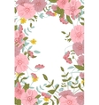 Abstract floral composition with large and small vector image