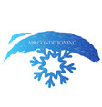 air conditioning snowflake vector image vector image