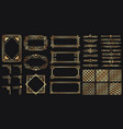 art deco elements set creative golden borders and vector image