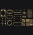 art deco elements set creative golden borders