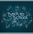 back to school banner design copy space for design vector image