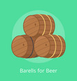 barrels for beer isolated vector image