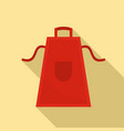 bbq apron icon flat style vector image
