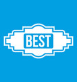 best label icon white vector image vector image