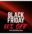 Black friday sale Red waves on the black vector image vector image