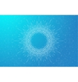 Blue graphic background molecule and communication vector image vector image