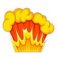 bomb explosion icon cartoon style vector image vector image