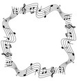 border template with musicnotes on scale vector image vector image