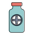 bottle medical isolated icon vector image