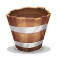 cartoon wood bucket vector image