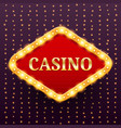 casino luxury retro banner template vector image vector image