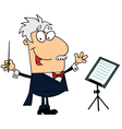 Caucasian Cartoon Music Conductor Man vector image vector image
