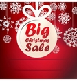 Christmas Big Sale template with copy space