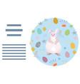 circle made with easter decor vector image