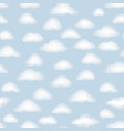 cloud pattern cloudy sky seamless backround vector image