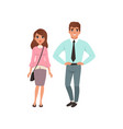 couple of young people young man and woman vector image vector image