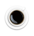cup with coffee and plate white background vector image vector image