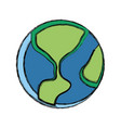 earth world symbol vector image vector image