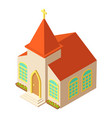 easter church icon isometric style vector image vector image