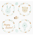 Easter wreath vector image
