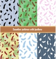 feathers patterns set vector image vector image