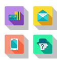 Finance and cooperation flat Icons vector image vector image