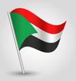 flag sudan vector image