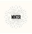 hand drawn sunburst - winter vector image vector image
