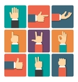 Hands Icons Set vector image vector image