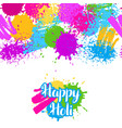 happy holi colorful seamless pattern grunge vector image vector image