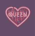 heart and queen vector image vector image
