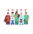 hero doctors health care medical team medics and vector image
