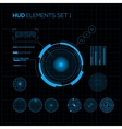 HUD and GUI set Futuristic User Interface vector image