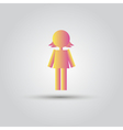 Icon pink stick figure female women or girl