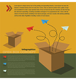 infographics of open box concept vector image vector image