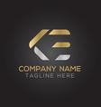 initial alphabet ke logo design template abstract vector image vector image