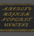 knitted ugly sweater pattern gold design font vector image