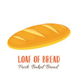 loaf of bread icon vector image vector image