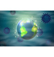 macro abstract world around corona virus vector image