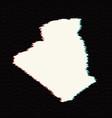 map algeria isolated black vector image