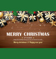 merry christmas poster background design template vector image vector image
