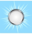 Metal circle and shiny sun vector image vector image