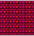 mod valentines day stripe with hearts vector image vector image