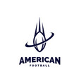 modern professional american football logo for vector image vector image