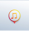 music icon mark for apps vector image vector image